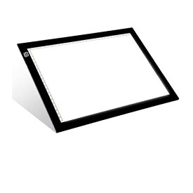 トレース台 ライトテーブル ライトボード【省エネLEDトレーサー A4サイズ 超薄型 ライトボックス 段階調光 感度アップ】トレス台 高