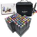 L-JUWA マーカーペン コピックペン 80色セット ペンスタンド スケッチブック付き 太細両端 塗り絵、描画、落書き、学…