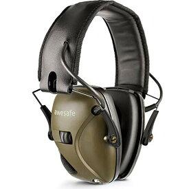 Awesafe 防音イヤーマフ 防音/サウンドアンプ NRR 22 射撃や狩りに理想的なアイテム(グリーン)