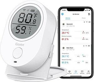 デジタル温湿度計 WiFi温度計 湿度計 Govee LCD大画面 アプリコントロール グラフ記録とデータ輸出機能付き 置掛兼用 高精度 温湿度