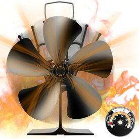 [令和改良最新版] ストーブファン Aonbys 5つブレード エコストーブファン 火力ファン エコファン 火力熱炉ファン 静音 省エネ スト