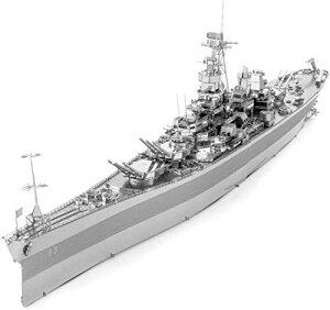 Piececool 立体パズル 3Dメタルパズル ミズーリ戦艦 クラフト シートメタル 3Dパズル メタリックナノパズル 機械模型 金属製 子供 お
