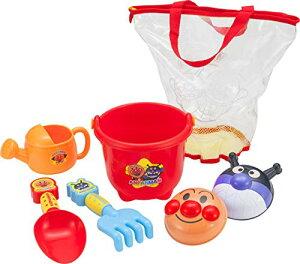 アンパンマン カラフル おでかけ 砂場セット おもちゃ 砂遊び バケツ ジョーロ シャベル