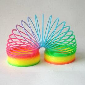 ジャンボ レインボー スプリング つるまきバネ おもちゃ 生き物みたいに動く