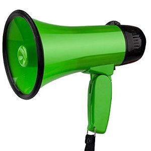 拡声器 5W 小型メガホン STM-101 サイレン音つき 防災にも (緑)