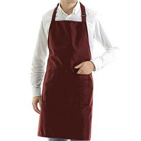シワになりにくい メンズ エプロン 前掛け 首掛け 毎日の家事 カフェ 飲食店 ガーデニング 外での軽作業 大ポケットx2 ペンポケットx