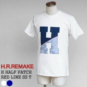 【クーポンで20%OFF】HRリメイク/H.R.REMAKE Hハーフパッチレッドライン半袖Tシャツ リメイクTシャツ H HALF PATCH RED LINE SS T 700071715 ハリウッドランチマーケット/HOLLYWOOD RANCH MARKET【コンビニ受取可能】【1点のみメール便可能】