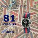 SMART TURNOUTスマートターンアウト NATOベルト タイプ18mm腕時計用リボンベルト腕時計交換用ストラップ