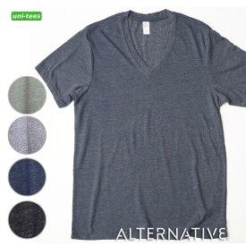 ALTERNATIVE APPAREL 霜降り 無地Tシャツ BOSS V-NECK オルタナティブアパレル エコヘザー