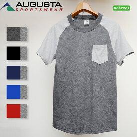 [SALE/返品交換不可]フリーダムスリーブ 半袖ポケットTシャツ 霜降り無地 AUGUSTA SPORTSWEAR 367