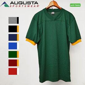 半袖フットボールTシャツ 無地リンガーTシャツ AUGUSTA SPORTSWEAR 374