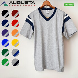 [SALE/返品交換不可]無地フットボールTシャツ 半袖 6オンス 無地 AUGUSTA SPORTSWEAR[665]