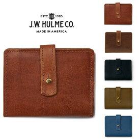 J.W.HULME(ジェイダブルホルム) アメリカ製 レザーウォレット 二つ折り財布LINWOOD SMALL WALLET