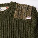 Harris Tweed/ハリスツイード イギリス製セーター[14135] NATO軍タイプ クルーネックコマンドセーター[MADE IN BRITAIN]ミリタリーセーター