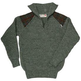 ハリスツイード/Harris Tweed ローゲージ ハーフジップセーター イギリス製 パークレインジャーセーター[MADE IN BRITAIN]