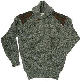 ハリスツイード/Harris Tweed ローゲージ ショールカラーセーター イギリス製 パークレインジャーセーター[MADE IN BRITAIN]