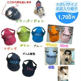名前入り帽子3L,4Lサイズわんちゃんのお名前入ります 犬の帽子 犬服  人気犬服 被り物