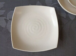 和食器 桜萩スクエアー19cm和風ケーキプレート 角皿 美濃焼ケーキ皿 日本製 おしゃれケーキ皿 激安ケーキ皿 業務用食器