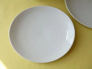 洋食器 ソフトオーバル21cmロールケーキプレート中皿楕円皿 白い食器 カフェ食器 業務用食器 美濃焼 ポイント5倍