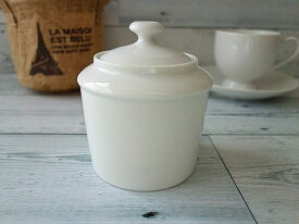 洋食器 フィリップデズリエに似てるシュガーポット(ホワイト)【白い食器 カフェ食器 砂糖入れ 蓋物 陶器 シュガーディスペンサー】