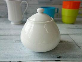 洋食器 スライムみたいなかわいいシュガーポット白い食器 カフェ食器 砂糖入れ 蓋物 陶器 シュガーディスペンサー