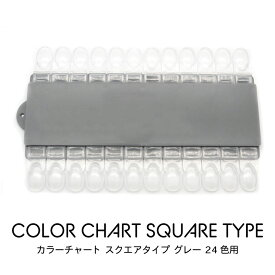 カラーチャート スクエアタイプ グレー 24色用 クリックポストOK