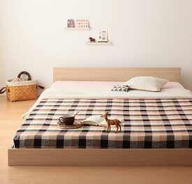 連結ベッド マットレス付き ファミリーベッド 家族ベッド ずっと使える・将来分割出来る・シンプルデザイン大型フロアベッド Grati グラティー スタンダードボンネルコイルマットレス付き セミシングル