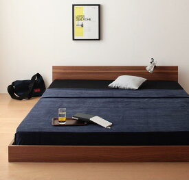 連結ベッド マットレス付き ファミリーベッド 家族ベッド ずっと使える・将来分割出来る・シンプルデザイン大型フロアベッド Grati グラティー スタンダードポケットコイルマットレス付き セミダブル