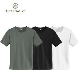 オルタネイティブアパレル オルタナティブアパレル コットンジャージー クルーネック 半袖 丸首 Tシャツ Basic Crew 05 Alternative Apparel