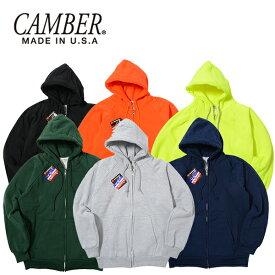 キャンバー スウェット パーカー ジップ CAMBER CHILL BUSTER 送料無料 (ブラック/ネイビー/グレー/グリーン/イエロー/オレンジ/無地/フード/ジップパーカー)