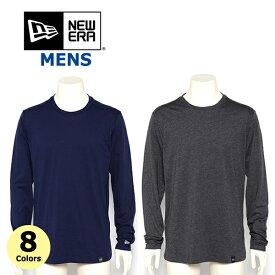 ニューエラ Tシャツ ロングスリーブ クルーネック ロンT メンズ NEW ERA (ブラック/ネイビー/グレー/ホワイト/ブルー/無地/メール便/ダンス)