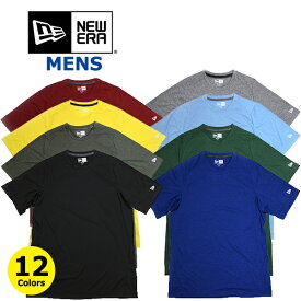 ニューエラ NEW ERA パフォーマンス Tシャツ メンズ (ブラック/ネイビー/グレー/ホワイト/ブルー/レッド/イエロー/オレンジ/無地/メール便/ダンス/半袖)