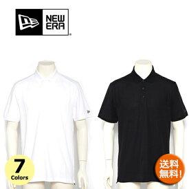 ニューエラ ポロシャツ メンズ NEW ERA (ブラック/ネイビー/グレー/ホワイト/ブルー/グリーン/レッド/無地/メール便/ダンス/テニス/ゴルフ/送料無料 )