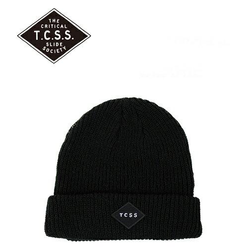 TCSS (ティーシーエスエス) STANDARD BEANIE ニットキャップ ニット帽 (ブラック/ビーニー/キャップ/メンズ/レディース/帽子/サーフ/メール便)
