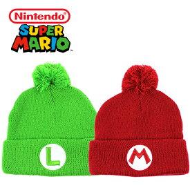 ニンテンドウ スーパーマリオ ニット帽 ニットキャップ Nintendo (Super Mario/キャップ/ルイージ/マリオ/フリーサイズ/メンズ/レディース/帽子)