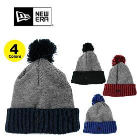ニューエラ ニット帽 ニットキャップ ビーニー NEW ERA ボンボン (ブラック/ネイビー/レッド/ブルー/キャップ/帽子/スキー/スノーボード/メンズ/レディース/メール便)