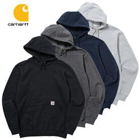 カーハート スウェット パーカー CARHARTT (ブラック/ネイビー/グレー/無地/トレーナー/プルオーバー/メンズ/フード/送料無料/大きいサイズ)