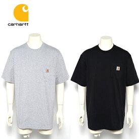 カーハート Tシャツ ポケット メンズ CARHARTT (ブラック/ネイビー/グレー/ホワイト/ポケT/無地/半袖/メール便/クルーネック)