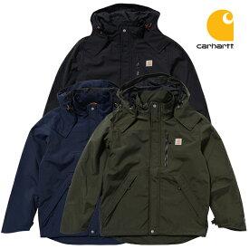 カーハート ジャケット CARHARTT SHORELINE JACKET (ブラック/ネイビー/オリーブ/メンズ/ナイロン/マウンテンパーカー/アウター/ブルゾン/送料無料)