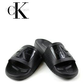 カルバンクライン サンダル メンズ シャワーサンダル CALVIN KLEIN VINCENZO JELLY (ブラック/ネイビー/スライダーサンダル/ck)