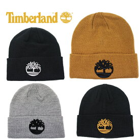 ティンバーランド ニット帽 ニットキャップ ビーニー ビッグロゴ Timberland KNIT CUFF BEANIE (ブラック/ブラウン/グレー/キャップ/帽子/スキー/スノーボード/メンズ/レディース/メール便)