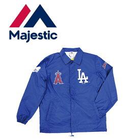 マジェスティック Majestic MLB ドジャース/エンゼルス コーチジャケット ロサンゼルス ダブルネーム