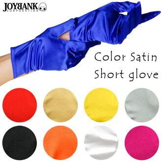 手套短手套伸展段子短手套派對手套短長手套古裝戲舞蹈服裝4848733-GR038