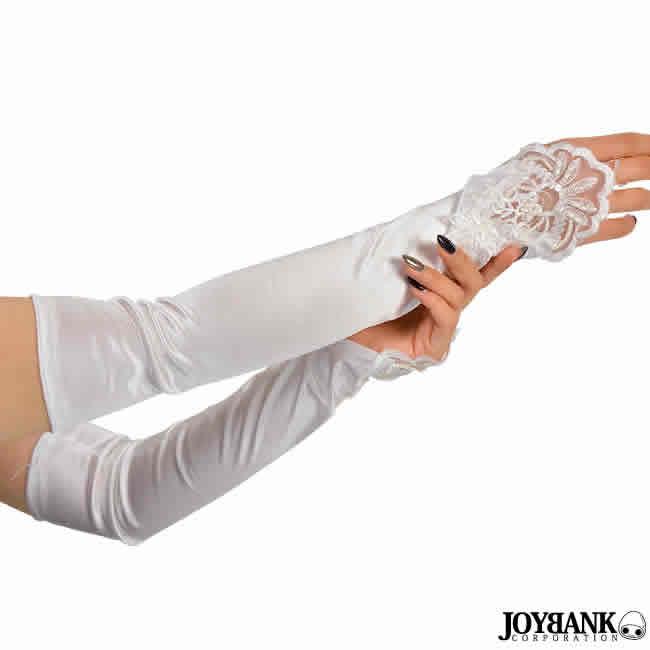 ロング手袋 ロンググローブ 指ぬき アーム ロングアーム カバー ダンス 衣装 パーティ レース刺繍 ダンス ブライダル パーティドレス 5336889-gr067