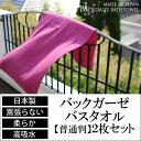 バックガーゼバスタオル【普通判】2枚セット(日本製/裏ガーゼ)