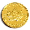 【エントリーでポイント7倍】 メイプル金貨 1/10オンス 純金 (99.99%) K24 (1982年〜) 中古美品