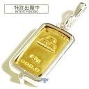 純金 インゴット 流通品 日本マテリアル 50g k24 シルバー925 脱着可能リバーシブル枠付き ペンダント トップ 銀色 送…