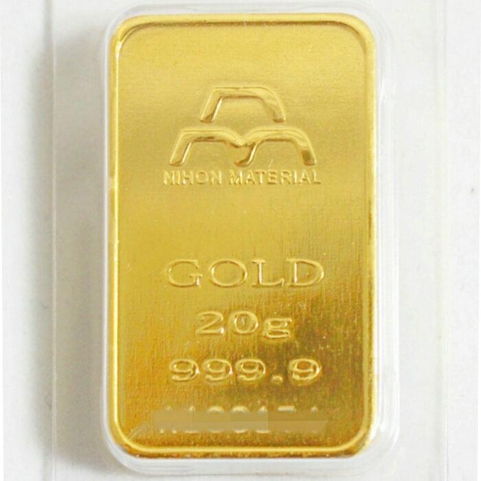 【新品】日本マテリアル 純金 インゴット 20g K24 公式国際ブランド グッドデリバリーバー 送料無料