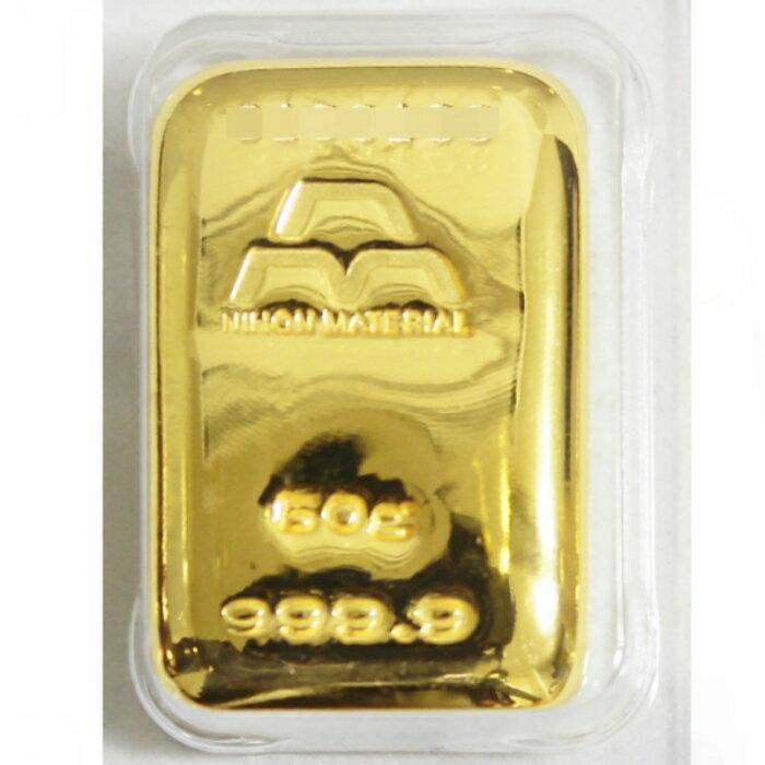 【新品 限定数販売 日本国内ブランド】インゴット K24 純金 50g 金塊 公式国際ブランド グッドデリバリーバー INGOT 送料無料