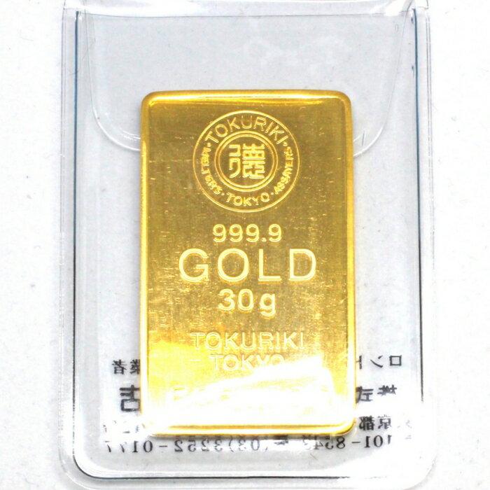 【新品 未開封】TOKURIKI 徳力 純金 インゴット 30g 金塊 K24 INGOT 送料無料